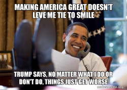Trump blames Obama for everything