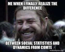 Social Statistics/Dynamics