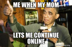 Staying online