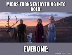 The golden curse.