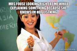 Scumbag Teacher