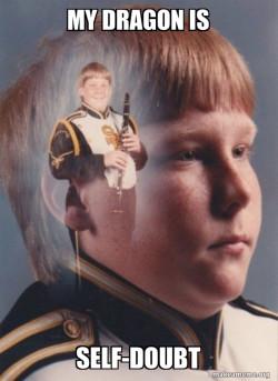 Self-Doubt Clarinet Meme