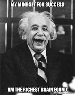 Laughing Albert Einstein