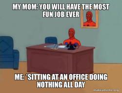 spooderman in office