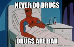 Spiderman does to much cocaine