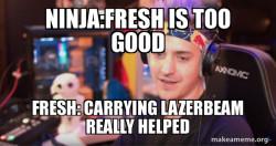 Mrfreshasian vs  Ninja