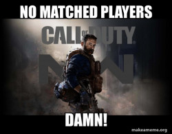 when it says no players on a old cod game