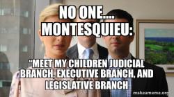 Montesquieu and his three children