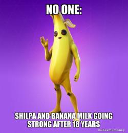 shilpa and banana