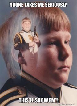 Serious Clarinet Boy