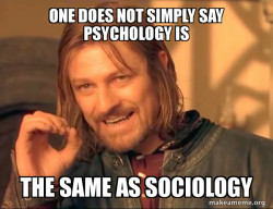 sociology is not psychology