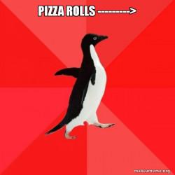 Pizza roll loving Penguin
