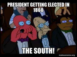 Getting elected in 1860