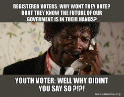 youth voters ready to inherit the goverment and take voting serious