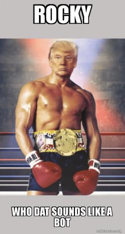 Trump on Rocky's Body