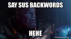Thanos is sus