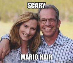 spoopy scary mario hair