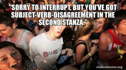 memes and cartoons on verb usage