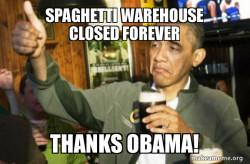 Spaghetti warehouse obama