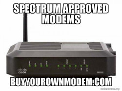 Spectrum Approved Modems