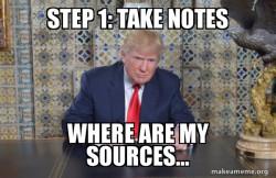 Donald Trump Writing Speech