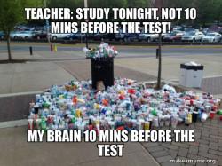 over crammed brain