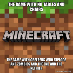 WHY CANT THIS GAME HAVE CHAIRS AND TABLES WITHOUT INSTALLING MODS