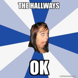 the hallways