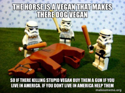 murdering a vegan that makes there dog vegan.