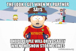 Utah drivers in snowy weather