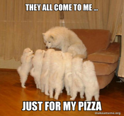 I just have pizza 🍕