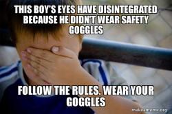 Goggles are Needed