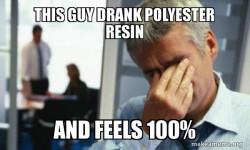 everyone should drink leftover resin