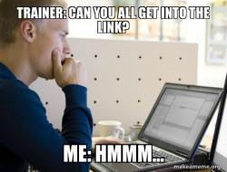 Virtual training be like...