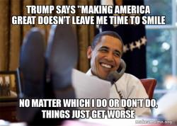 Trump blames lazy Obama Meme