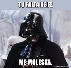 Darth Vader-Falta de fe