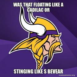 Minnesota Vikings/Cars movie meme