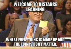 distance learning meme