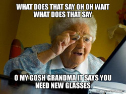 Grandma that cant read the computer