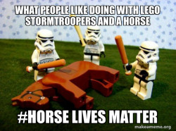 stormtroopers bullying a random horse