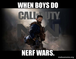 Nerf wars be like.