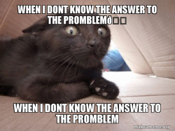 When i dont know the answer to the promblem