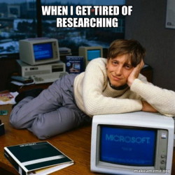 Tired of research