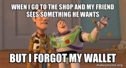 Shopping with woody
