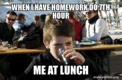 Lazy Elementary Student
