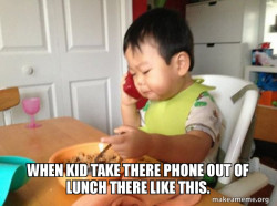 Business kid on the phone