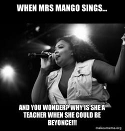 Mrs Mango on the inside