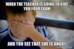 Results of an exam