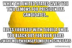 Lemon Law Presidential Candidate