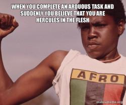Hercules in the flesh